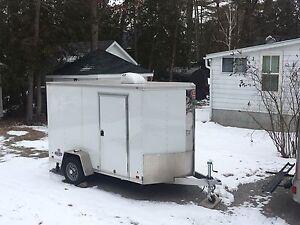 2015 aluminium enclosed 6x10 utility trailer