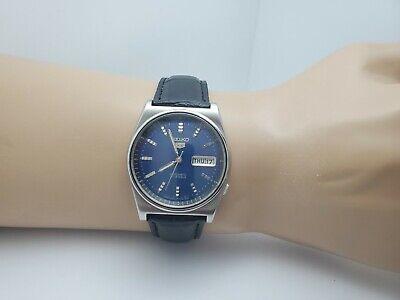 Vintage SEIKO 6309-708B Automatic men's watch,day date Bule dial 1981