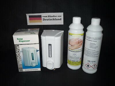 Seifenspender 0,5L Desinfektionsmittelspender + Desinf-Mittel GP 1 Liter 14,95 €