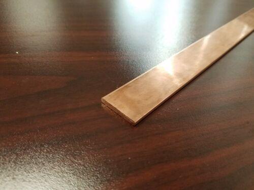 "Copper 110 Flat Bar 1/8"" x 1"" x 36""-Long -->.125"" x 1"" Copper Bus Bar"