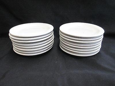 Lot Of 16 Off-white Porcelain Plate 5 38 Restaurantcatering Dinnerware