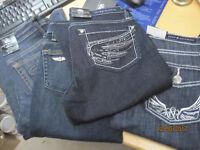 Rock /& Republic Kasandra Bootcut Mid Slim Stretch Denim Blue Jeans Plus Size New