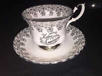 Royal Albert Happy Anniversary Teacup and Saucer