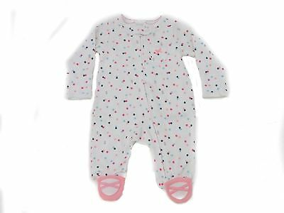 CartersBaby Girls Floral‑Print Cotton Footed Coverall Newborn - Newborn Printed Coverall