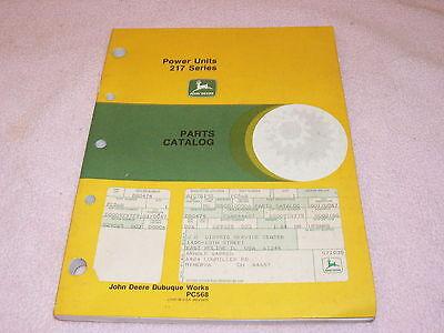 John Deere 217 Series Power Unit Dealers Parts Book