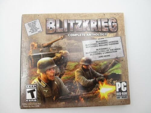 New Sealed Blitzkrieg Complete Anthology PC DVD Rom (Rated Teen)