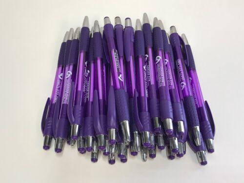40 Lot Misprint Ink Pens, Ball Point, PURPLE Plastic Barrel, Retractable