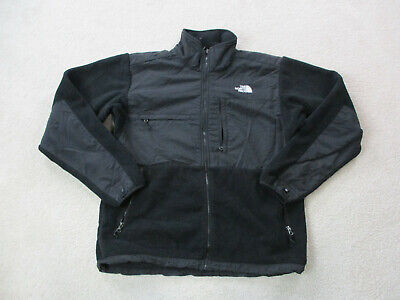 The North Face Jacket Adult Large Black White Denali Fleece Coat TNF Mens