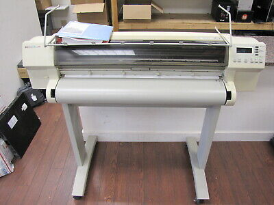 Hewlett Packard Designjet 750c Wide Format Printer Plotter With Manual - Ready