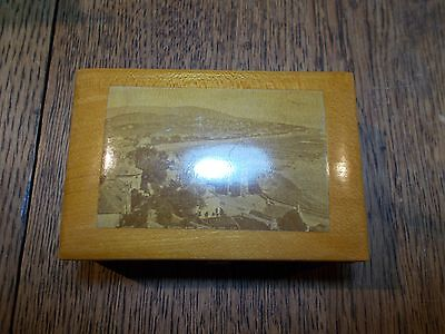 ANTIQUE MAUCHLINE SMALL BOX DUNOON EAST