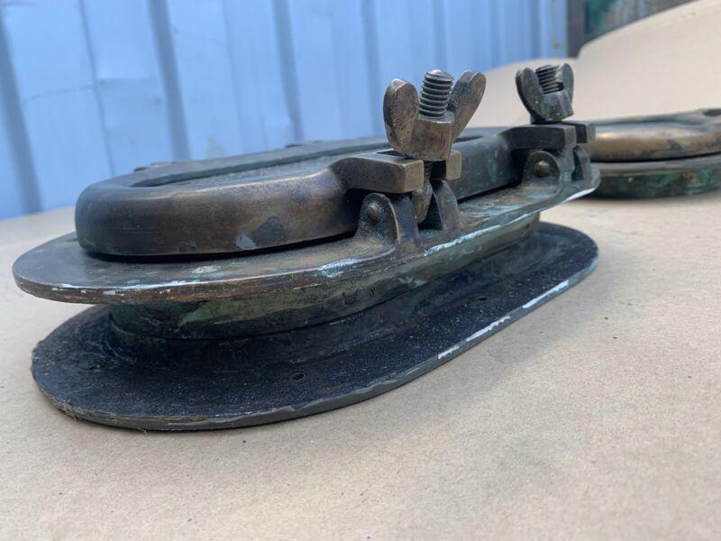 """Vintage Oval Porthole 9""""x5"""" Bronze/brass Glass Intact"""