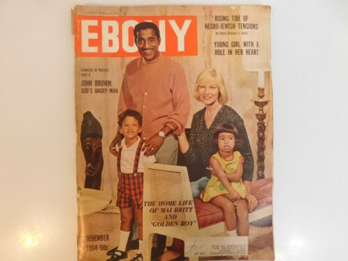 VINTAGE DECEMBER 1964 EBONY MAGAZINE RISING TIDE NEGRO JEWISH TENSIONS