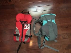 Baby carrier and life jacket