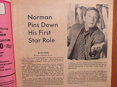 1973 Philadelphia Sun. Bulletin TV Time (NORMAN FELL/MARK SPITZ/NEEDLES AND PINS - Sun Bulletin