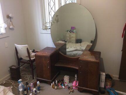 Unique vintage wooden dressing table