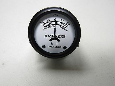 JOHN DEERE A B G STYLED TRACTOR WHITE FACED AMP METER GAUGE    5732