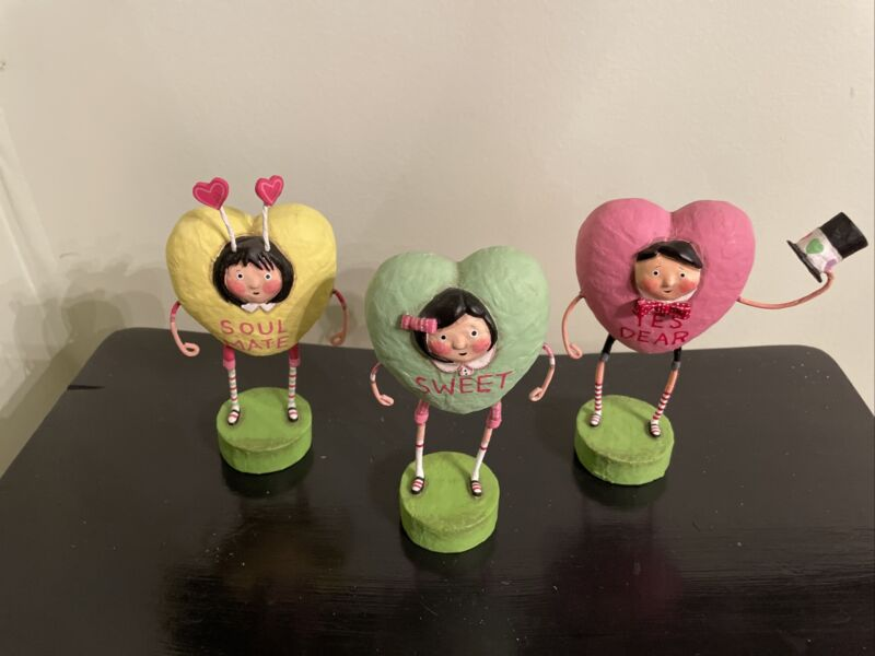 Lori Mitchell Figurines Set Of 3 HEARTS ***NEW***