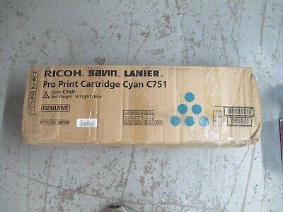 828188 New Genuine Ricoh Savin Lanier Cyan Pro Print Cartridge For C751
