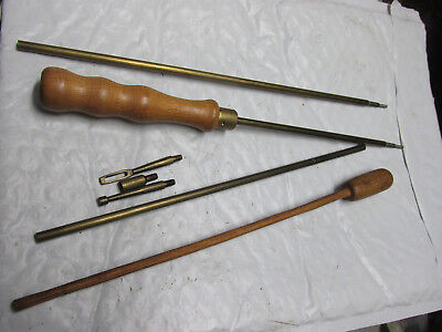 vintage Marbles Jointed rifle cleaning rod & wood pistol rod