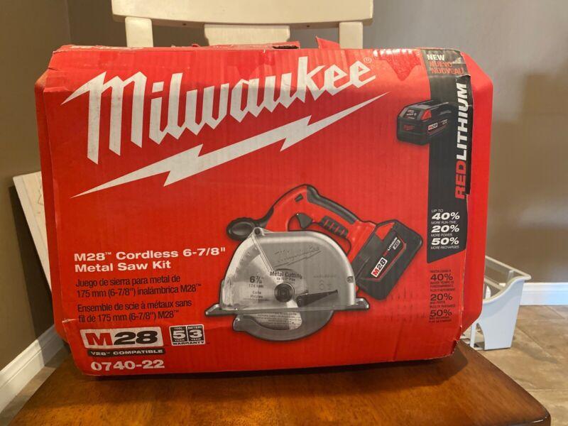 "Milwaukee 0740-22 V28 6-7/8"" Metal Cutting Saw Kit"