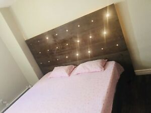 king size custom made bed with headboard in excellent condition