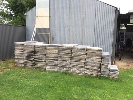 Charcoal Pavers, 500 x 500 x 45mm, second hand - $2 000