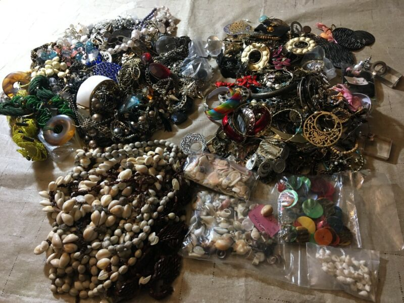 Lot 10 lbs Junk Jewelry Making Beads New Used Crafts #5
