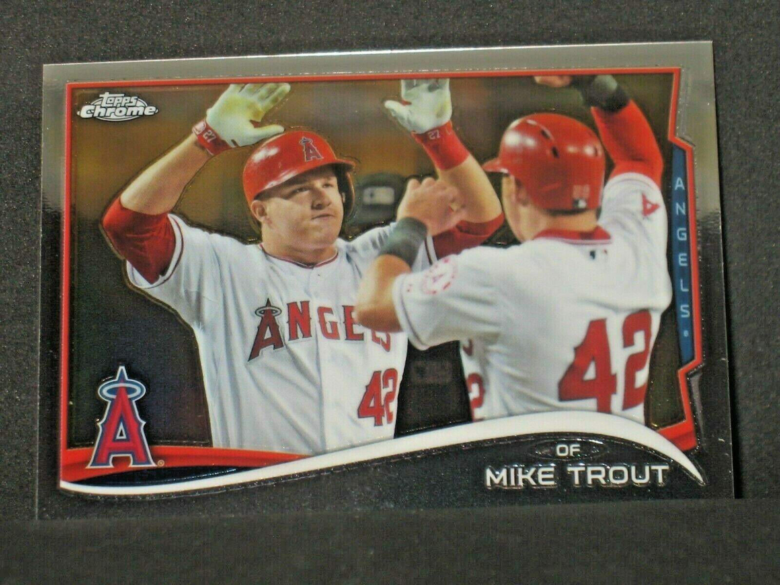 mike trout 2014 topps chrome photo variation