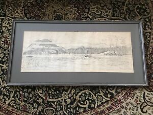Framed Artwork of Lone Cone Mountain