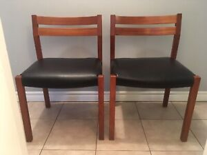 Pair of Niels Moller 401 Teak and Leather chairs