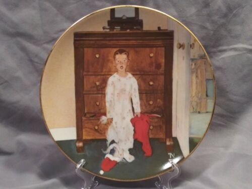 """Norman Rockwell """"The Truth about Santa"""" Collector's Plate"""