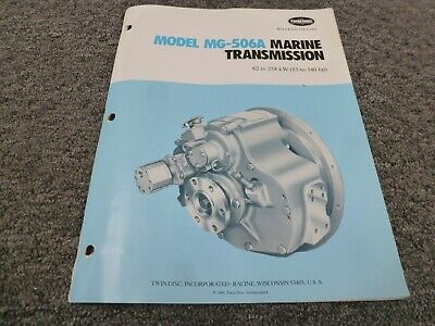 Twin Disc Mg-506a Marine Transmission Assembly Dimensional Specifications Manual
