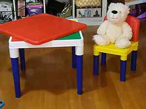 Activity Table with lego mat and Chair Southport Gold Coast City Preview