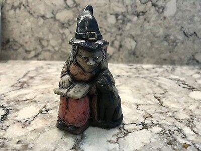 Genuine Witch Ones UK David C. Lyons Halloween Witch w Cat Handmade Figurine 4