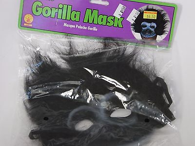 Plush Black Gorilla Mask Halloween Party School Play Theater Trick Or Treat