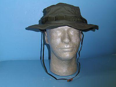B6238-59  Vietnam OD Poplin Boonie Hat with Nylon Band size 59 / 7 3/8 W2C