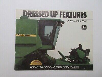 John Deere 4435 Combine Sales Brochure 1988 8 page