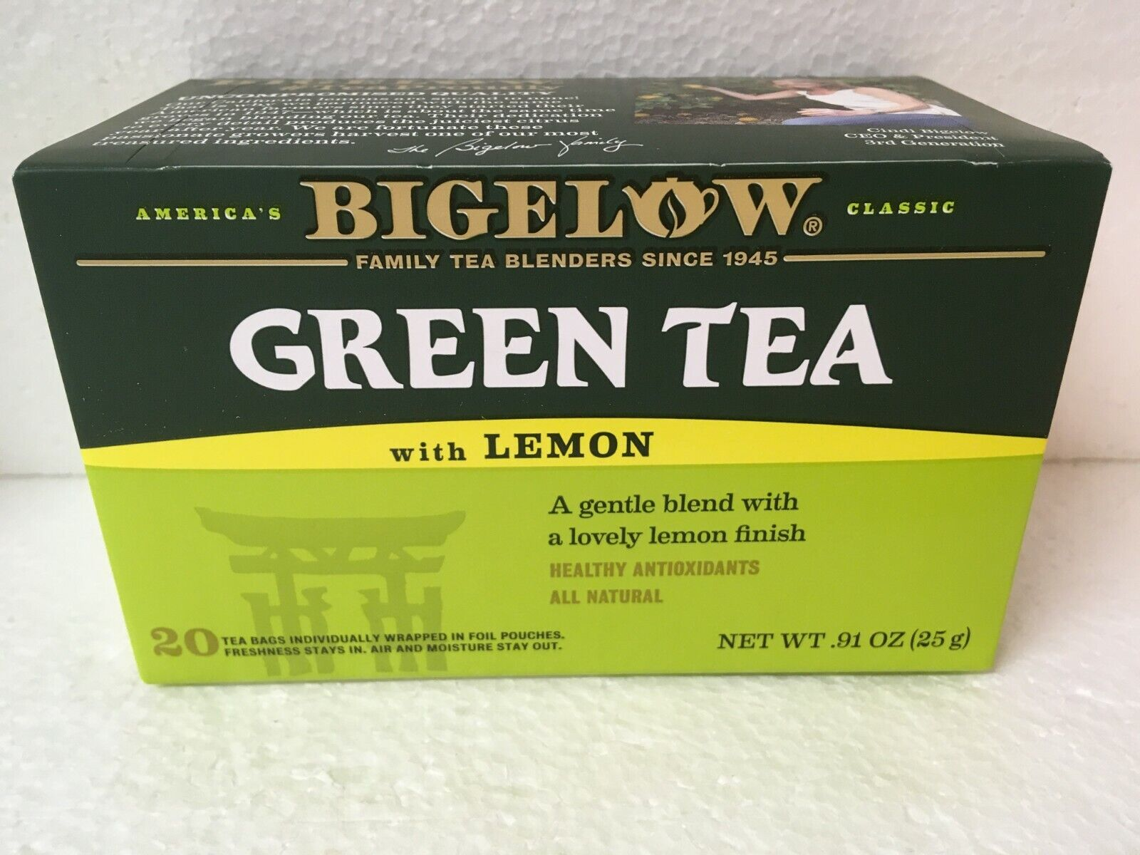 Bigelow® Green Tea with Lemon 20 ct Box