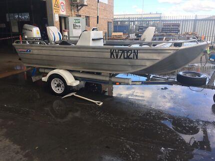 2.3m Side Console Brooker Trekker Tinny/Boat with 4 Stroke Honda BF30