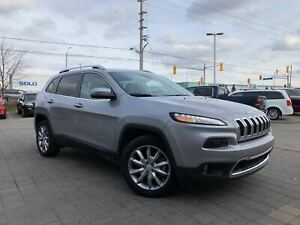 2018 Jeep Cherokee LIMITED LOW KM'S!!**LEATHER REMOTE STARTT**