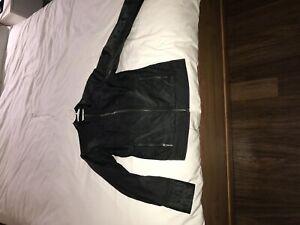 Black fitted rain jacket