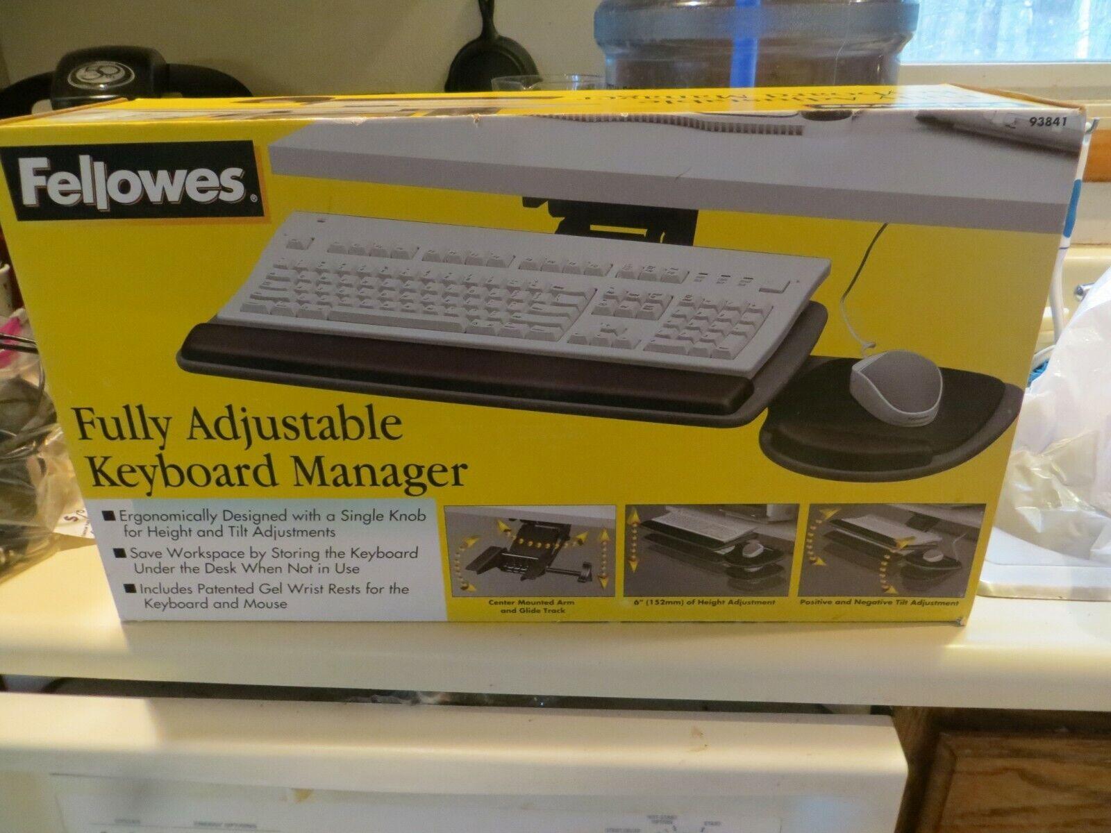 Fellowes Underdesk Keyboard Manager Tray Mounts Desk Table 9
