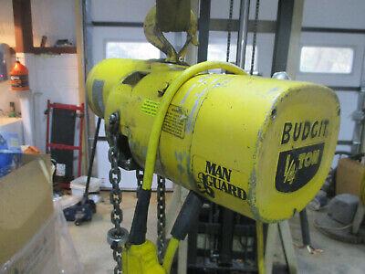 Budgit Electric Chain Hoist 14 Ton 3 Phase 240480vac Model 113451-5 500 Lbs.