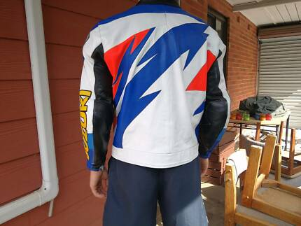Motorbike / Motorcycle Leather Jacket - Suzuki
