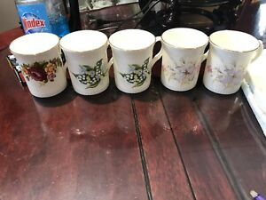 $35 for 5 Royal Castle England fine bone China mugs