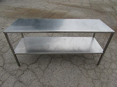 Stainless Steel Kitchen Prep Table 6x2x211 72 X 24 X 35 2-tier Xlnt