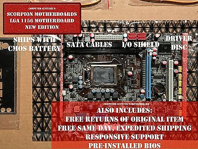 NEW Intel LGA 1156 H55 Micro ATX Computer Motherboard DDR3 16GB WiFi + OC