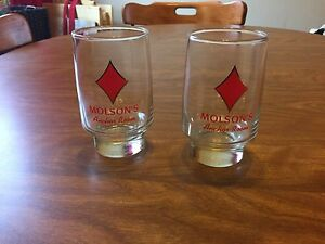 Vintage Molson Beer Glasses (2)
