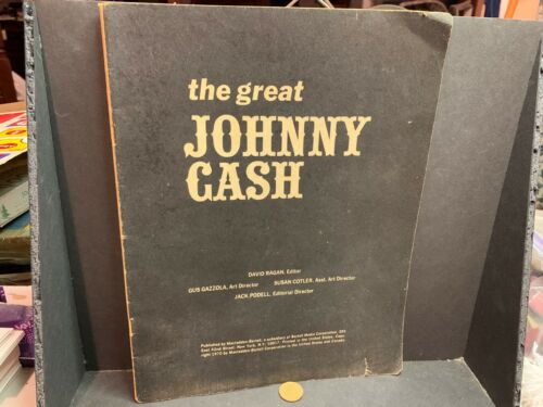 "1970 ""The Great Johnny Cash"" Biographical Magazine, David Ragan Editor"