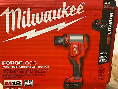 New In Box Milwaukee 2676-20 Force Logic M18 Knockout Tool Kit